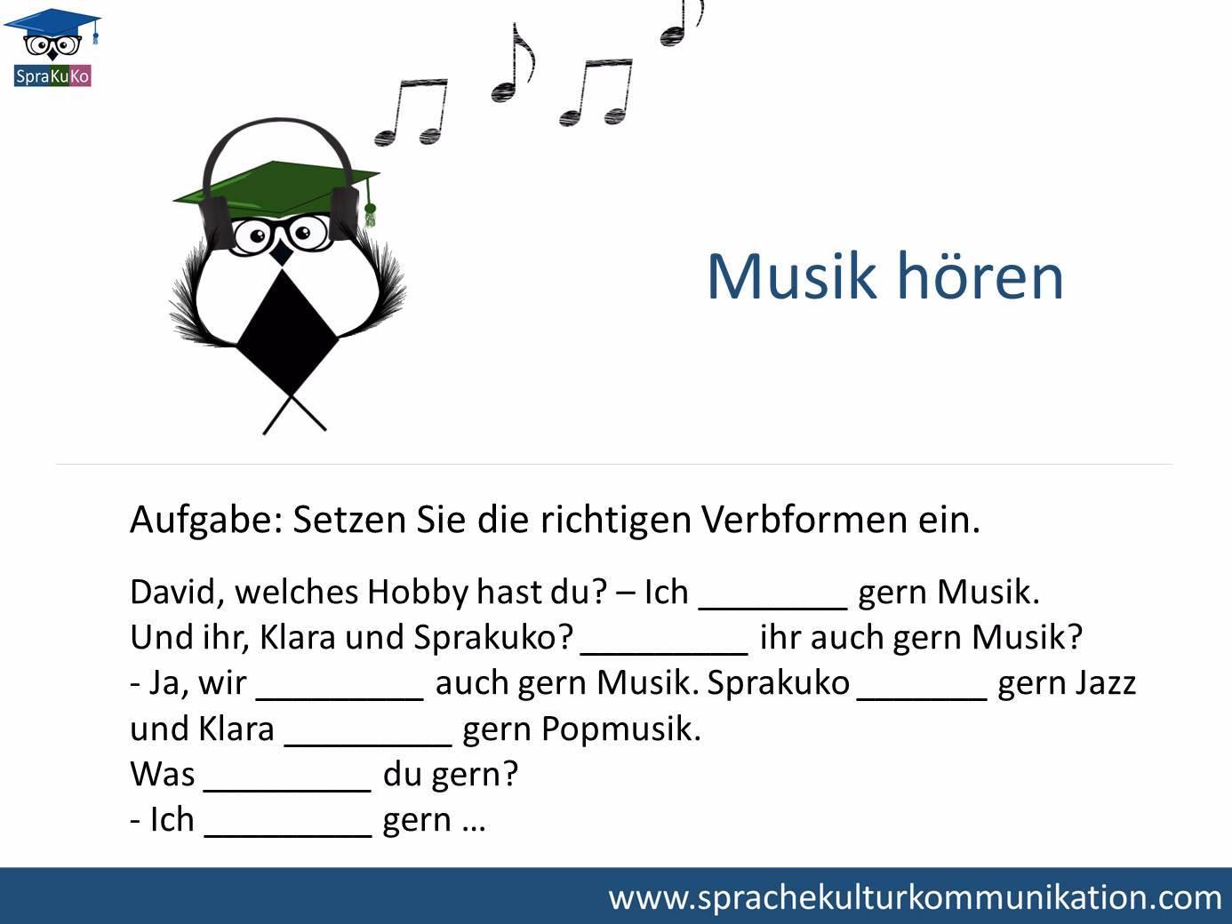 Verb Musik hören