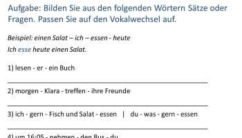 Arbeitsblatt/ Übung zu Verben mit Vokalwechsel | Sprakukos DaF-/DaZ ...