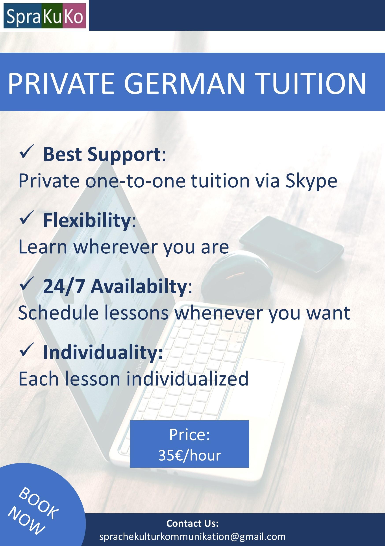 Deutsch lernen | Privatunterricht | Learn German | Private ...