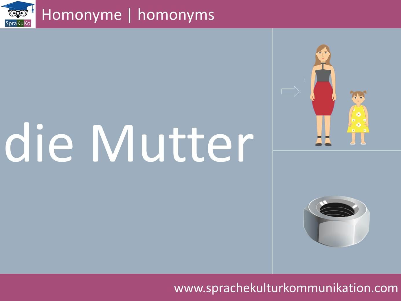 Wortschatz Homonym 2