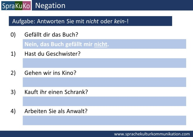 Übung Negation