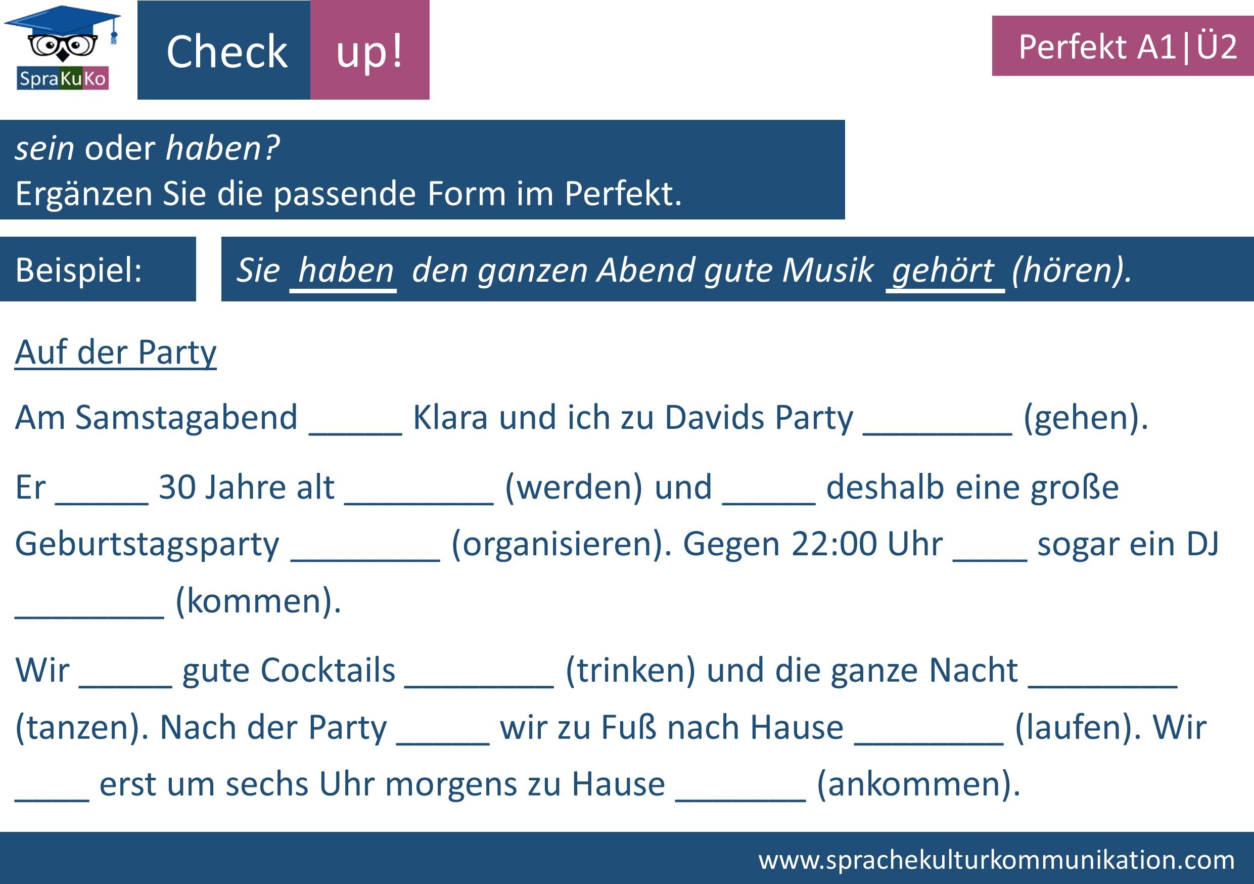 Check up Prefekt haben und sein (2)